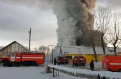 Пожар на обувной фабрике